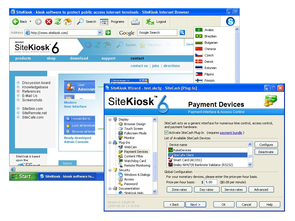 SiteKiosk - Public access internet terminal software.